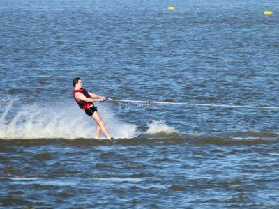 Water skiing improvement in La Manga 1h