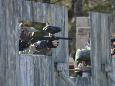 Paintball game in Bullas 300 paint balls