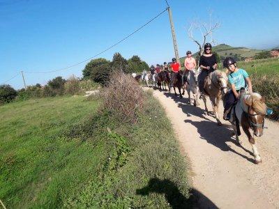 Horse riding route in Santillana del Mar 1 hour