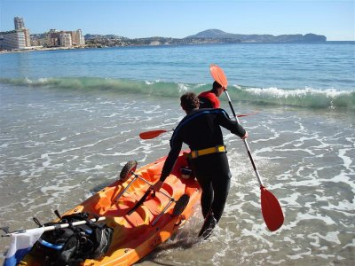 Guided kayak tour to Penyal d'Ifac. 2 h