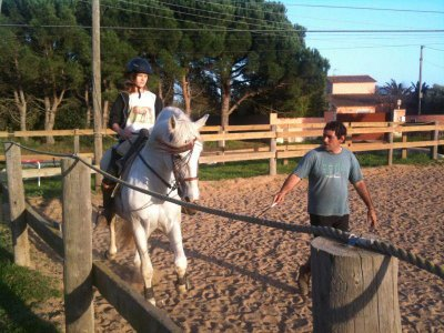 Private horse dressage and jump lessons Palamós 1h