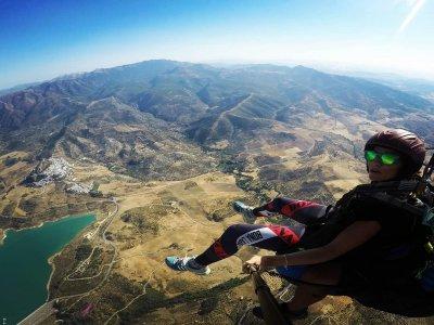 Paragliding baptism in El Bosque and photos 30min