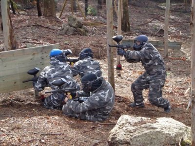 Paintball game in Rias Baixas with 200 balls