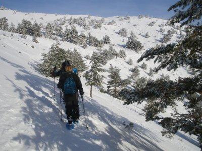 Snowshes route in Hoya de la Mora 2h