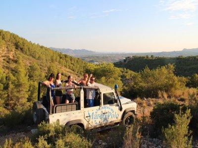 Drive a 4x4 jeep safari in Fuentes del Algar