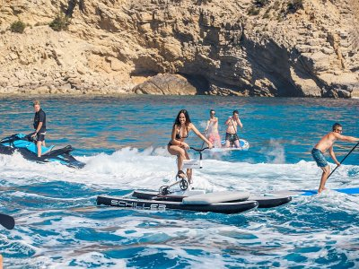Yacht route and water activities Ibiza evenings