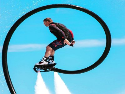 Flyboard and seabob with champagne Ibizia 2h 30min