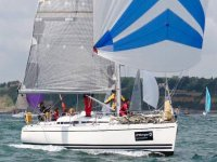 Sailing with spinaker