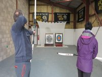 Archery session in the activity barn