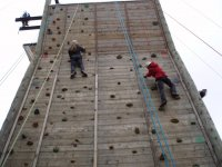 Climbing at Hilltop Outdoor Centre!