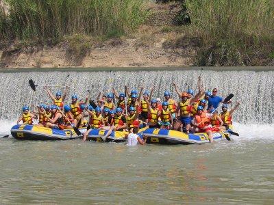 Rafting plus paella plus open bar, children
