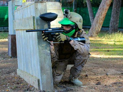 100 ball paintball game in Salou