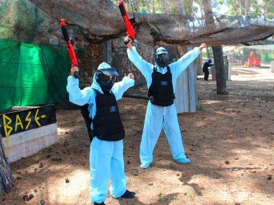 Children's paintball game 100 balls in Salou