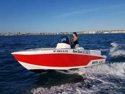Compass speedboat rental no license 2h Santa Pola