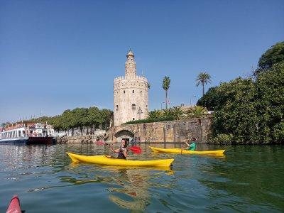 Kayak route on the Guadalquivir 2 hours