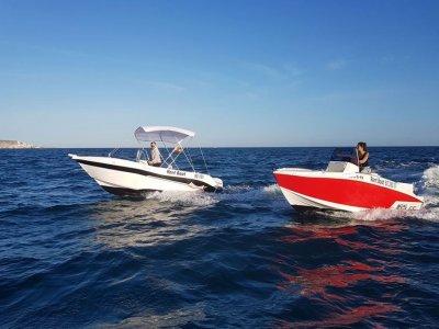 Speedboat rental Voraz no license Santa Pola 2 h