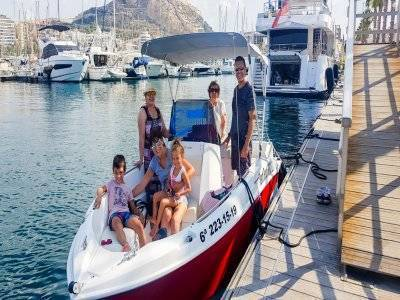 Compass Boat rental without license Santa Pola 4 h