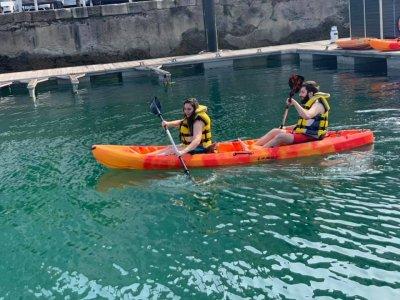 Double kayak rental in Costa de Gijón 2h