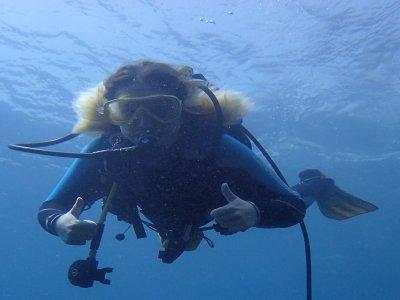Diving baptism and aquatic activity Serra Helada