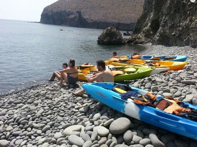 Kayak tour Los Escullos beach and snorkeling 3 h