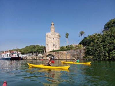 Kayak rental for children in Guadalquivir river