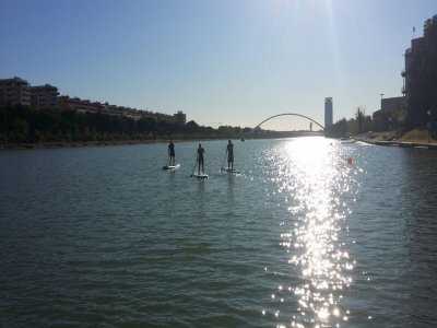 SUP excursion for children in Guadalquivir river
