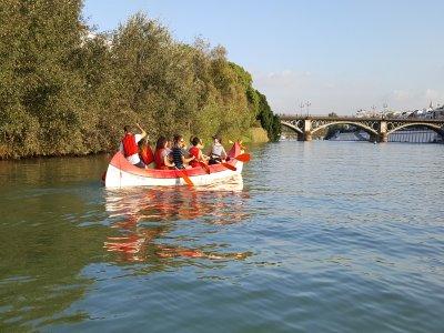 Guadalquivir river canoe tour for children 2 h