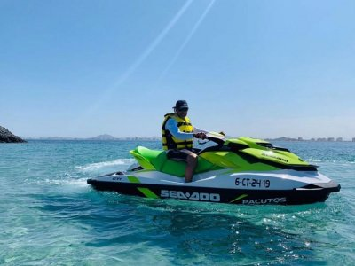 Guided tour on jet skis Puerto Tomás Maestre 3h