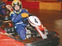 We provide racing overalls and safety helmets