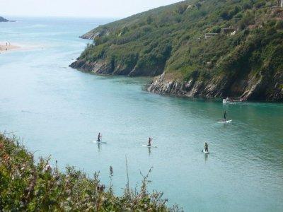 Crantock Bay Surf School Paddle Boarding