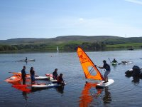 Group windsurfing