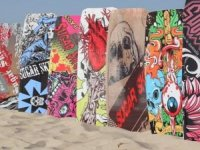 Kitesurfing boards for sale.