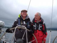 Our skipper John with a happy client