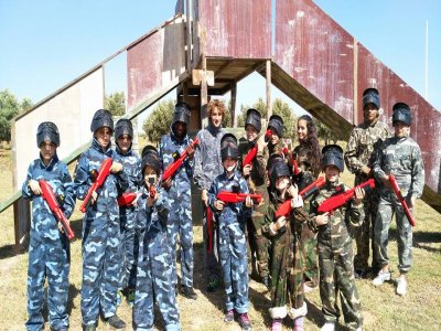 Paintball for children with 400 balls in Padul