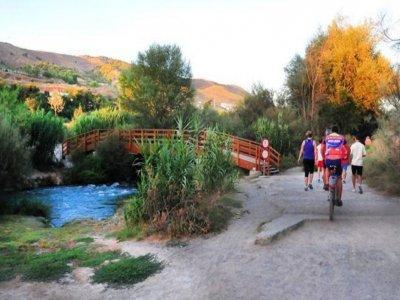 Bike tour through houses of Lorca Granada and food