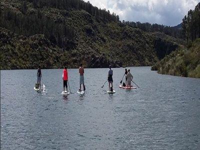 Paddle surf basic level in the San Juan dam