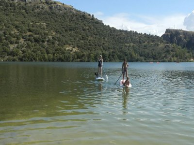 Paddle surf route in San Juan reservoir 2 hours