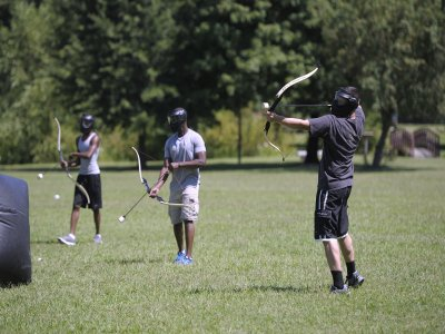 Archery tag game for groups in Viveda 2 h