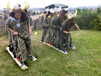 Medieval Catapult Field day in Asturias