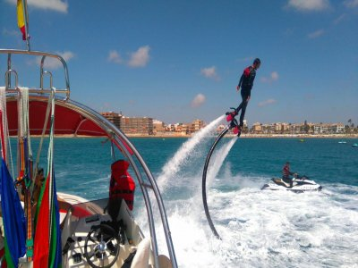 Flyboard and banana boat in Torrevieja and drink