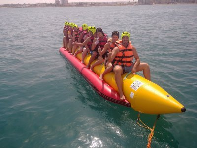 Parasailing and banana boat flight in Torrevieja