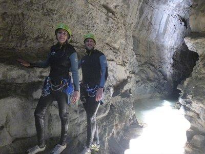 Initiation ravine in Las Gloces Gorge