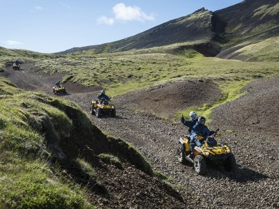 Quad route in Pre-Pyrenees mountains of Campo 2h
