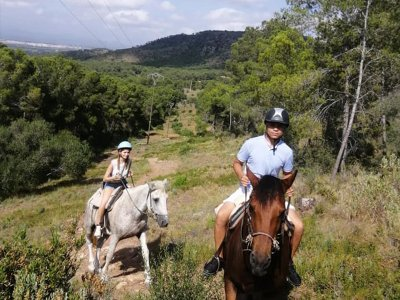 Horseback riding route to the Túria Park with stay