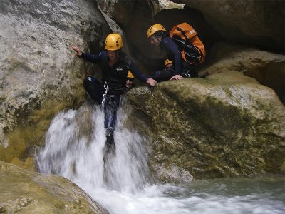 Canyoning in La Peonera in the Sierra de Guara