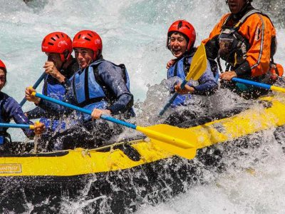 White water rafting on Ésera river in the Pyrenees