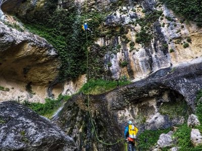 Descent of the Pilón ravine in Miller 8 hours