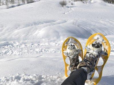 Snowshoeing route in Collado de Aiguillette