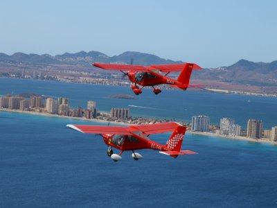 Initiation flight by plane over La Manga 80 min