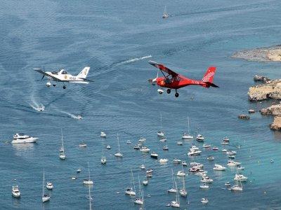 Ultralight flight to Island of Tabarca 1 h